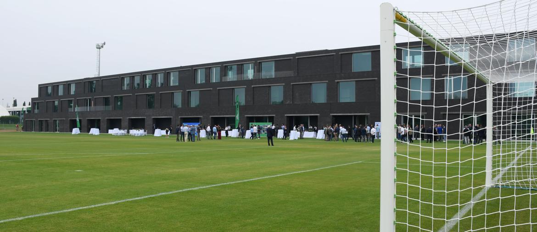 Il Mapei Football Center, centro sportivo con sei campi e un palazzo di quattro piani con la sede del Sassuolo Calcio ( foto Italy Photo Press / Alberto Sabattini)