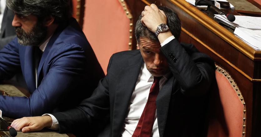 Il senatore del Pd ed ex segretario Dem Matteo Renzi (foto Ansa)