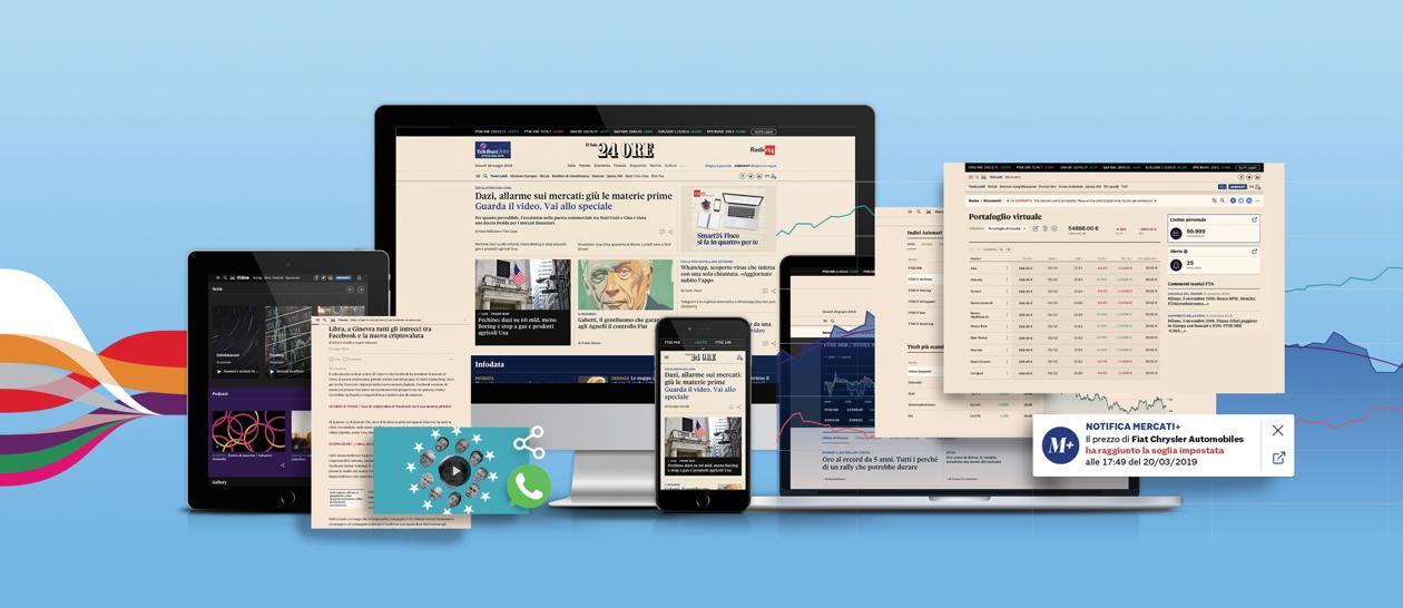 Parte la sfida del Sole 24 Ore digitale: informazioni veloci, visual e autorevoli - Il Sole 24 ORE