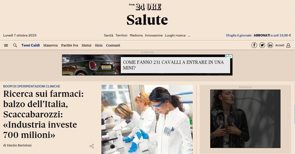 Sole 24 Ore Nuova Piattaforma Multimediale Al Servizio Della Filiera Della Salute Il Sole 24 Ore