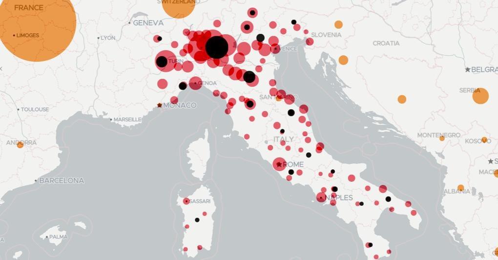 Cartina Italia Per Siti Web.Com E Nata E Cresciuta La Mappa Del Coronavirus In Italia Di Lab24 Il Sole 24 Ore