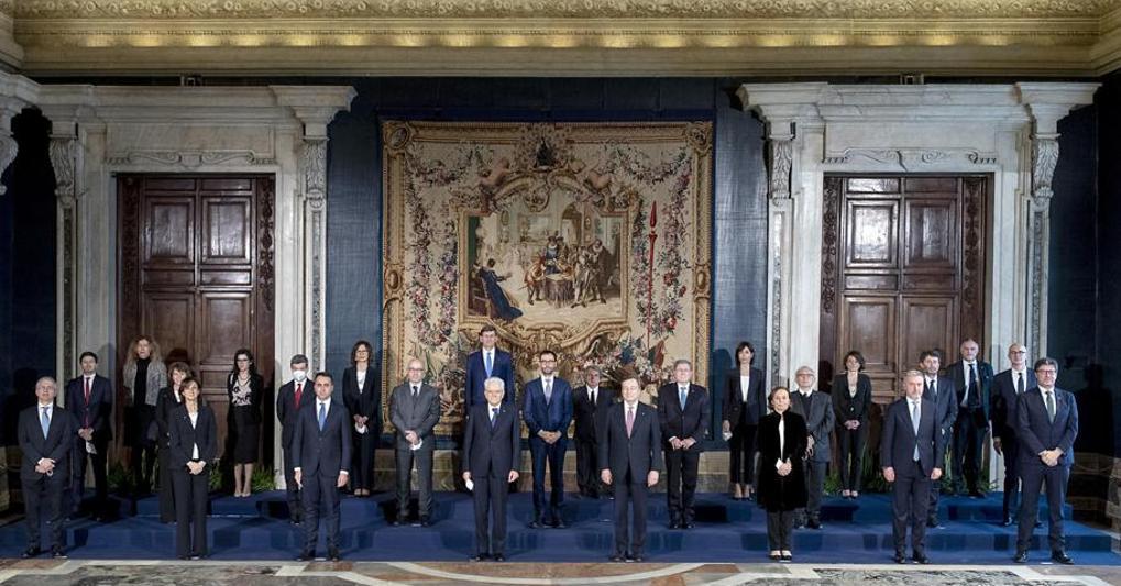 Risultato immagini per la squadra del governo Draghi al completo immagini