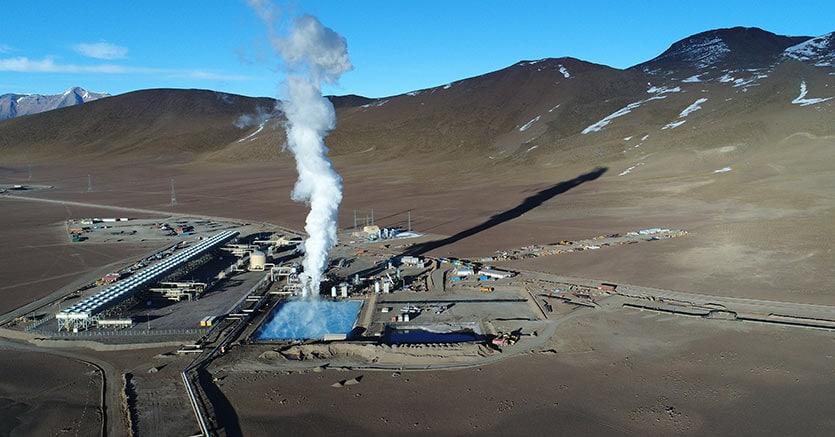 La centrale geotermica di Cerro Pabellon di Enel in Cile