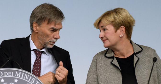 Guido Delrio e Federica Guidi (ImagoEconomica)