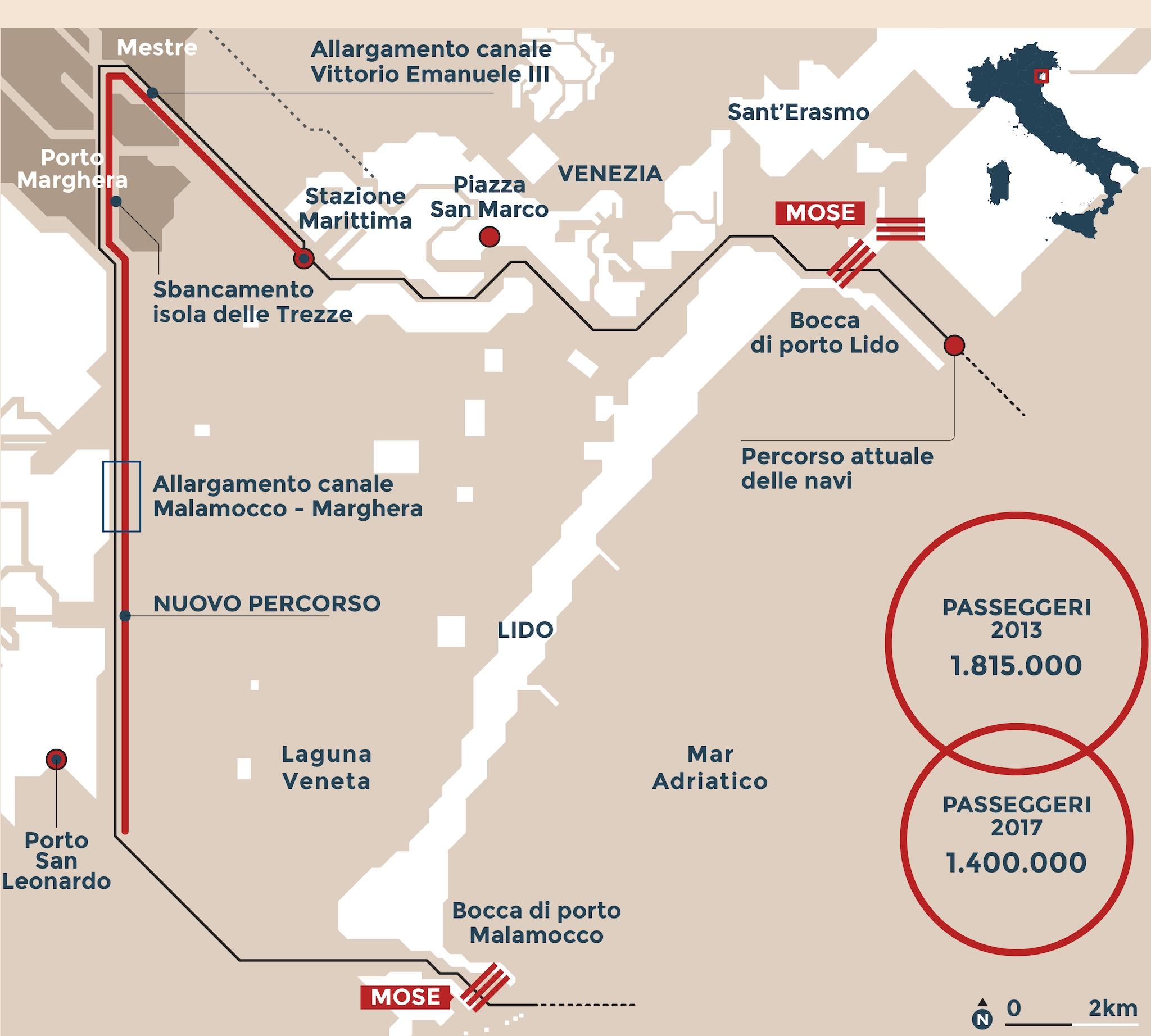 Vtp Calendario Navi.Grandi Navi A Venezia Ecco Il Piano Per Farle Passare Per
