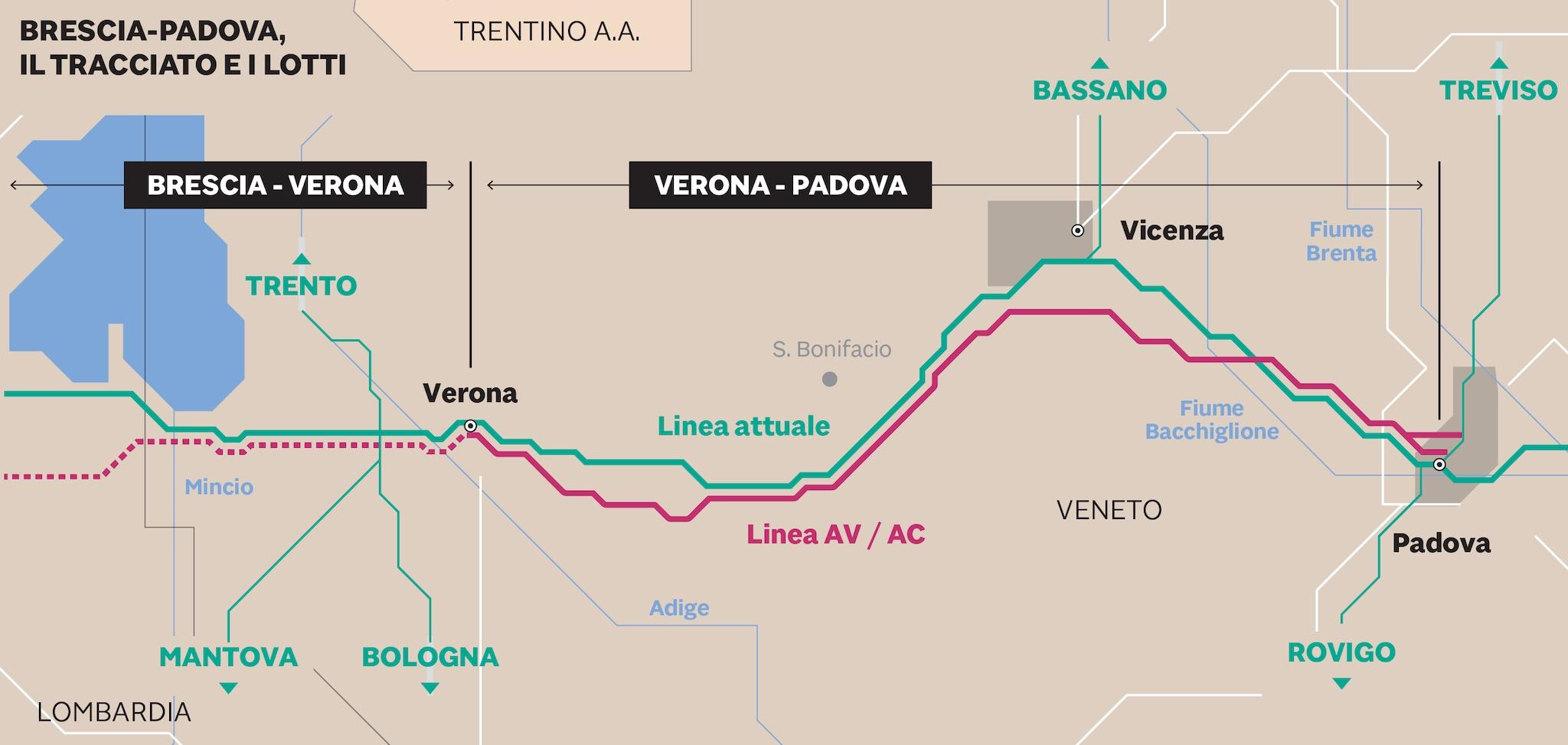 alta velocità Brescia Padova