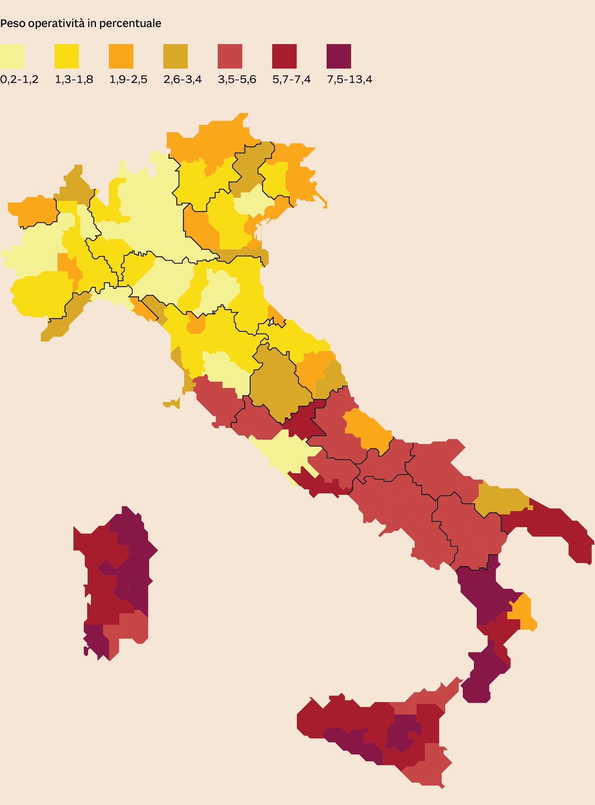 RICORSO AL CONTANTE IN ITALIA