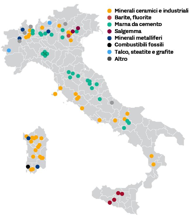 LA MAPPA DELLE MINIERE IN ITALIA