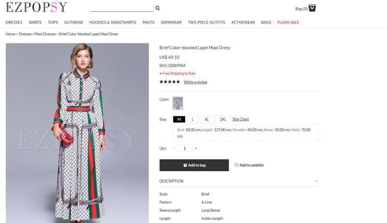 2c2836ad09 Comprare Gucci e Fendi con prezzi da Zara: attenzione alla misteriosa  e-boutique Ezpopsy