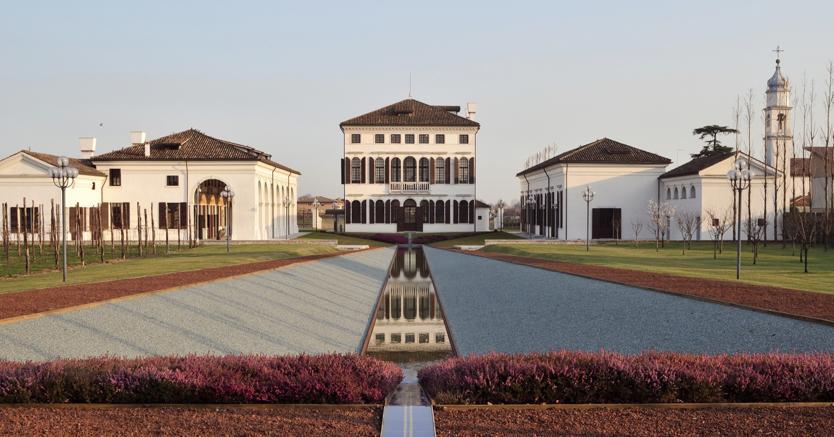 La sede di Benetton a Ponzano Veneto (Treviso)