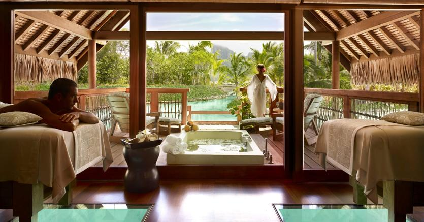 La Spa del Four Seasons Bora Bora in Polinesia