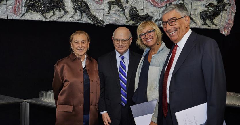 Miuccia Prada, Larry Norton, Stefania Bonadonna e Luca Gianni