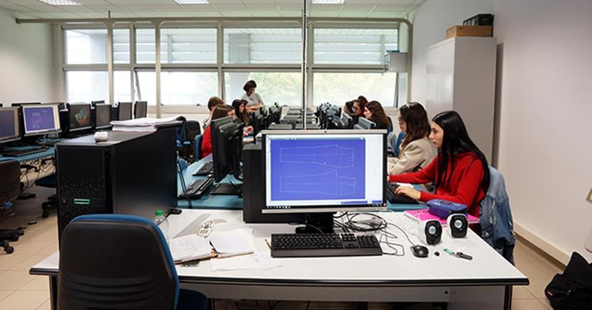 Un'aula high tech dell'Itis di Reggio Emilia