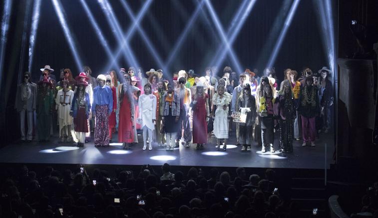 La sfilata Gucci a Parigi nel settembre 2018