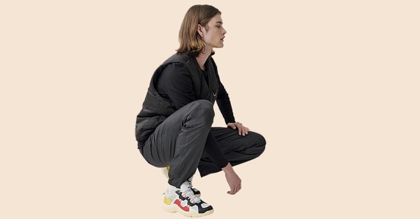 Sportswear. La sneaker Alpaca in versione multicolor, mix di pelle e mesh