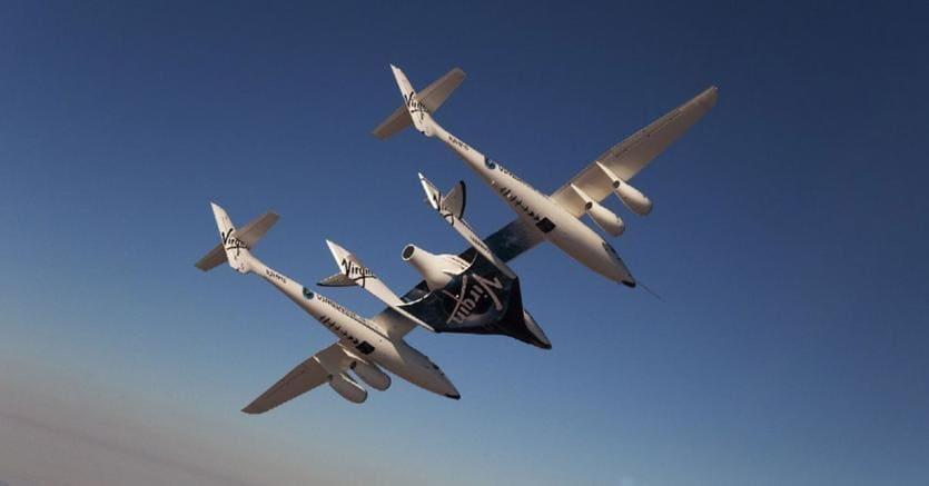 I due mezzi in volo