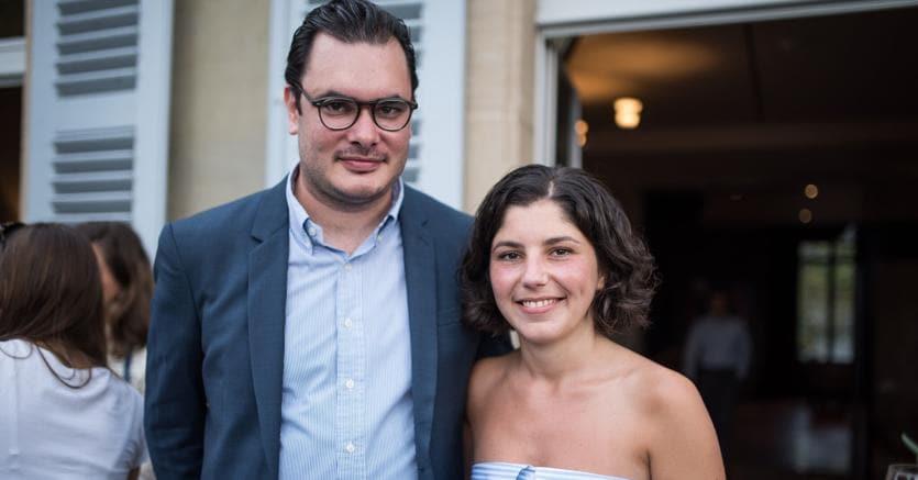 Thomas Hug, direttore di artmonte-carlo, e Laura Meillet, co-direttrice di artmonte-carlo