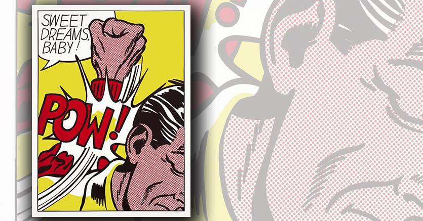 """Roy Lichtenstein """"Sweet Dreams, Baby!"""" (1965). serigrafia donata al Whitney Museum of American Art donata dalla Roy Lichtenstein Foundation"""