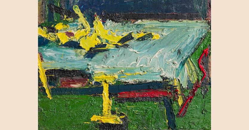 Frank Auerbach, Figure on the bed II del 1967, Venduto per  1,448,750  sterline (1,635,065 euro) premio d'asta incluso