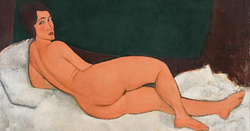 Nu couché (sur le coté gauche), 1917di Amedeo Modigliani