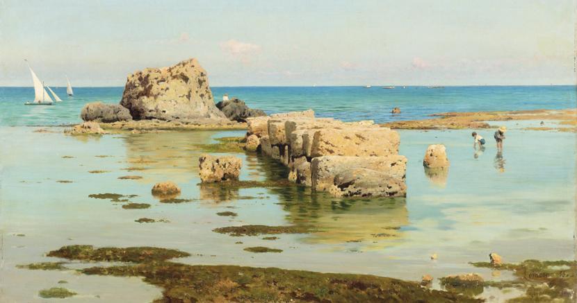 Francesco Lojacono, Marina, 1886, stima € 20.000-30.000, venduto per € 25.000
