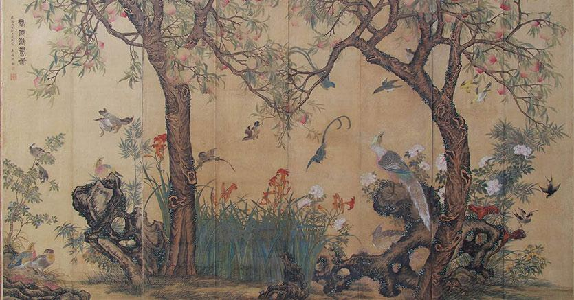 Arte Asiatica, Londra - Lotto 71 - Shen Quan - Birds and Flowers - Dipinto su seta - Venduto a € 70.940  - Stima € 41.900/62.300 - Courtesy Bertolami Fine Arts