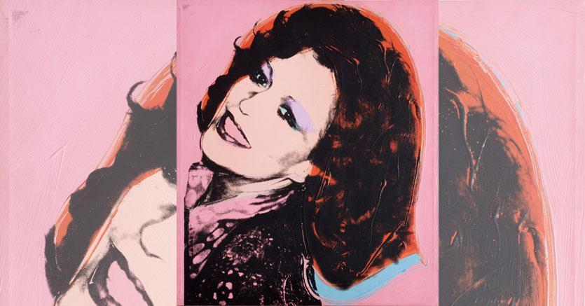 Lotto 215 - Andy Warhol (1928-1987), Ritratto della Principessa Giovanna Pignatelli d'Aragona Cortés, 1975, cm 66x56, stima 120-180 mila euro, venduto a 207.500 euro, Courtesy Blindarte Napoli