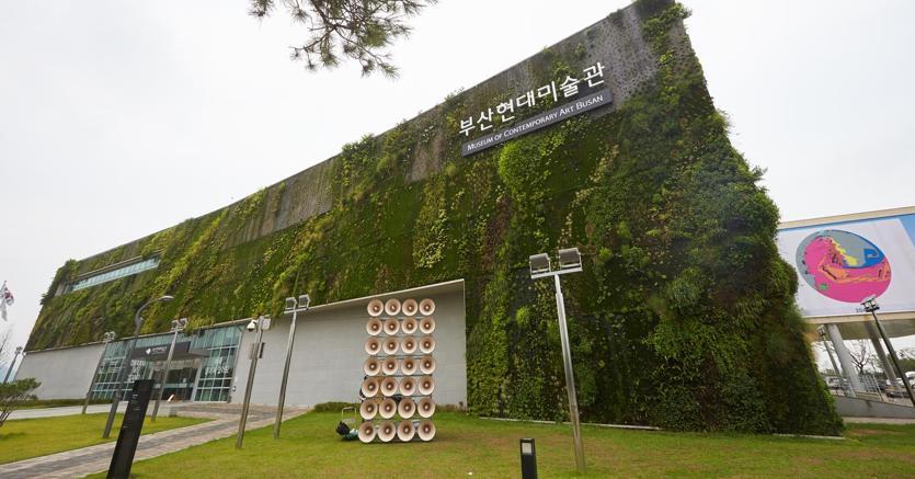 Il nuovo museo di arte contemporanea, sede della Biennale. Courtesy la Biennale di Busan