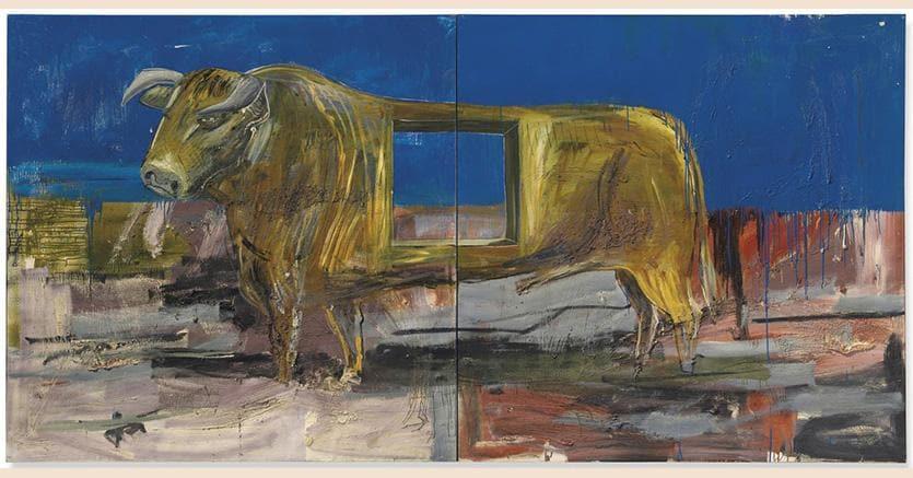 Albert Oehlen -  'Toro con Buco'