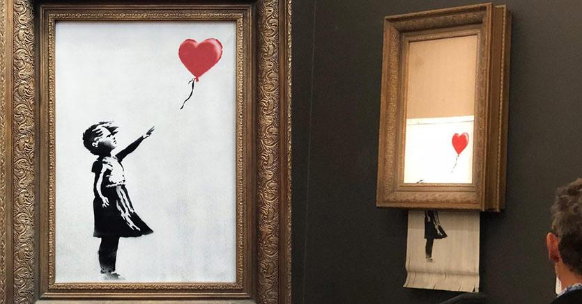 L'ultima genialata di Banksy: l'opera che si autodistrugge
