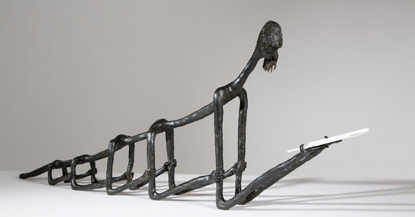 Enrico David, Life Sentences, 2014, bronzo, ed. 1 di 5+2, 43 x 106 x 12,5 cm, Courtesy Rennie Collection, Vancouver