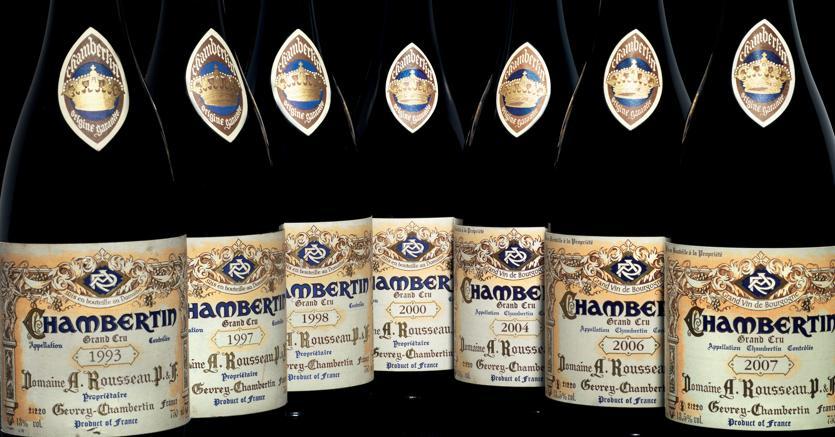 PANDOLFINI 4 bottiglie Côte de Nuit degli anni 2010, 2009, 2008 e 2002 di Chambertin Clos de Bèze Domaine Armand Rousseau aggiudicate per 7.105 euro