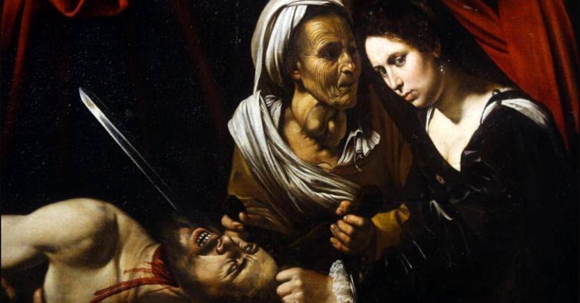 La Giuditta che decapita Oloferne attribuita a Caravaggio