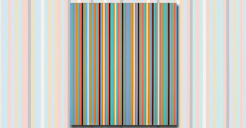 BRIDGET RILEY (B. 1931)Songbird signed and dated 'Riley 82' (on the turnover edge); signed again, titled and dated 'Songbird 1982 Riley' (on the reverse) oil on linen 42 x 36⅝in. (106.7 x 93cm.) Executed in 1982 £400,000-600,000 $512,000-768,000 Provenance: Juda Rowan Gallery, London. Anon. sale, Sotheby's London, 6 February 2004, lot 119. Timothy Taylor Gallery, London. Acquired from the above by George Michael in 2006.Literature: R. Kudielka, A. Tommasini and N. Naish (eds.), Bridget Riley. The Complete Paintings Volume 2 1974-1997, London 2018, p. 614, no. BR 244 (illustrated in colour, p. 615).Literature: