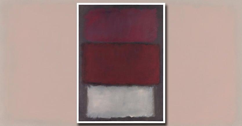 """Mark Rothko's """"Untitled"""" (1960), l'opera è proposta da Sotheby's tra 35-50 milioni di $ nella Contemporary Sale di New York di maggio"""