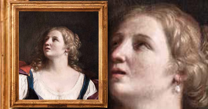 Lucrezia di Giovanni Francesco Barbieri, detto il Guercino, olio su tela, cm 56 x 51