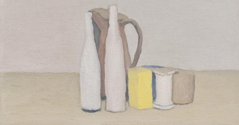 Giorgio Morandi (1890-1964) Natura morta, 1952, olio su tela .Anonymous :700,000 - 1,000,000