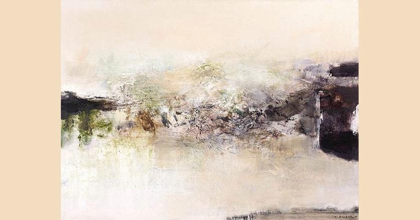 Zao Wou Ki,« 17.02.71-12.05.76», 1971, olio su tela, 73 x 100 cm