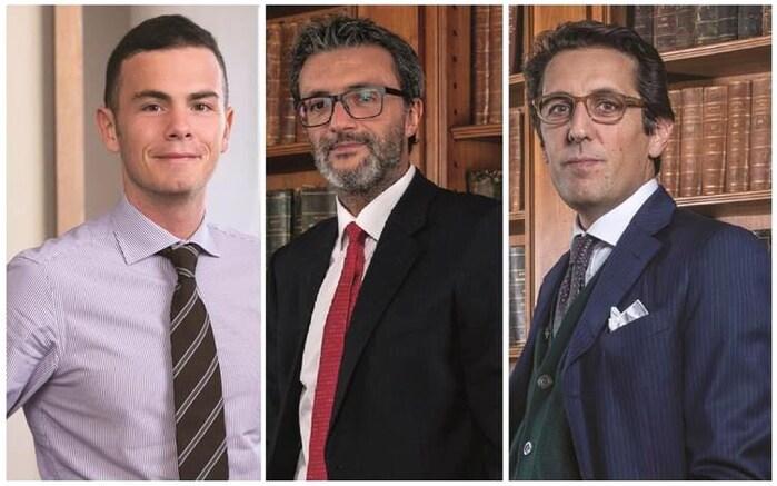Da sinistra: Andrea Gentili, Alessandro Vittoria, Mario Scofferi