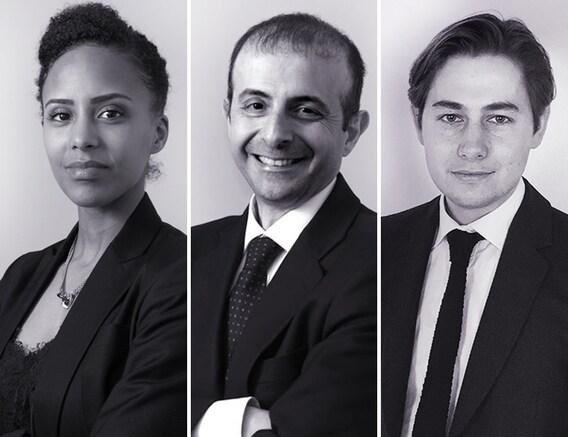 Leïla Haye, Gaspare Dori e Antoine Chomette.