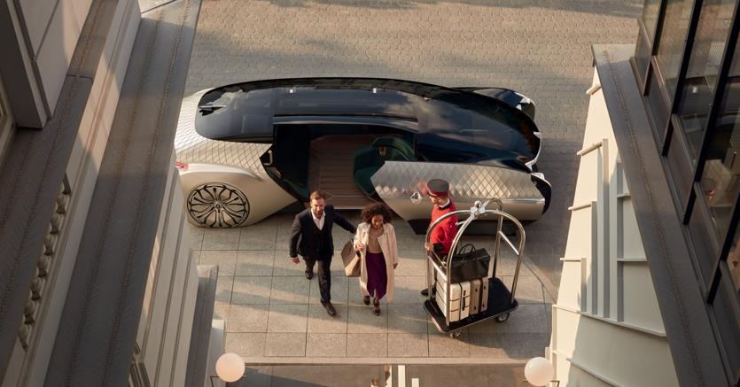 Il concept Renault EZ-Ultimo che prefigura un futuro robotaxi a guida interamente autonoma. Al momento la tecnologia per realizzare veicoli del genere non è disponibilie