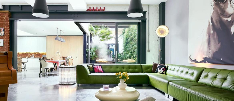 Foto del living di una casa da affittare nel quartiere Shoreditch a Londra della catena Marriott