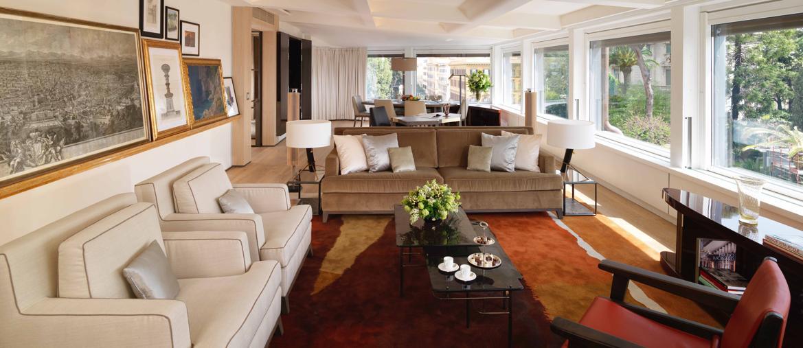 Hotel Eden Roma - Bellavista Penthouse Suite living room