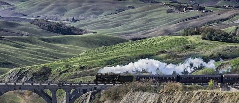 L'antico convoglio a vapore del Treno Natura
