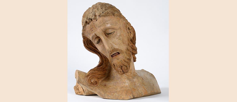 Ambito veneziano (?), Testa di crocifisso gotico doloroso, XIV secolo
