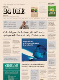 La prima pagina di oggi