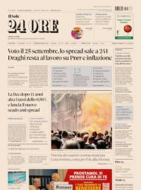 La prima pagina di oggi