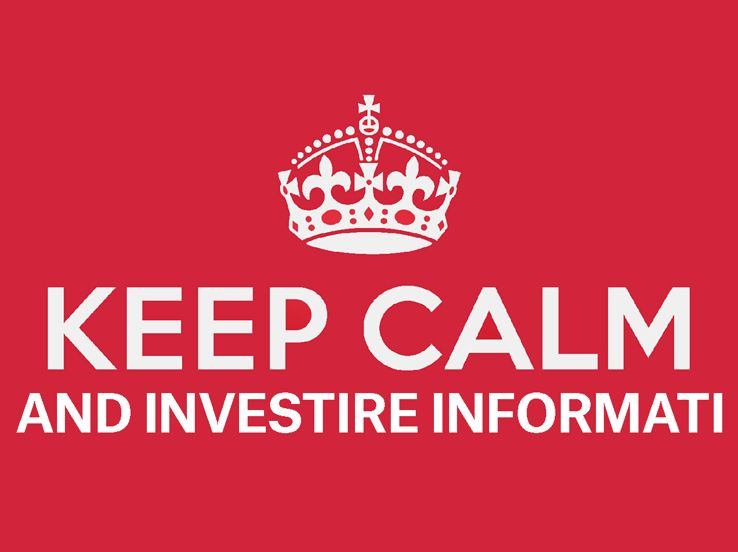 Keep calm and Investire informati