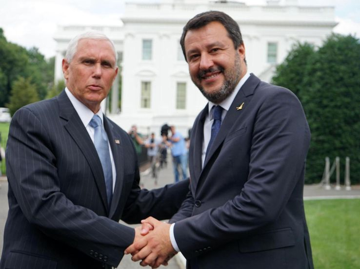 "Salvini negli USA: ""All'Italia serve manovra trumpiana"""