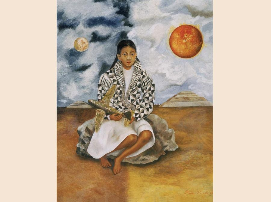 Bimba tehuacana, Lucha María (Sole e luna), 1942, oilo su masonite (© Rafael Doniz, © Banco de México Diego Rivera Frida Kahlo Museums Trust, México, D.F. by SIAE 2018)